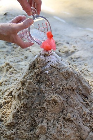 Beach Volcano – A Science Experiment That's Fun!! | Practice What ...