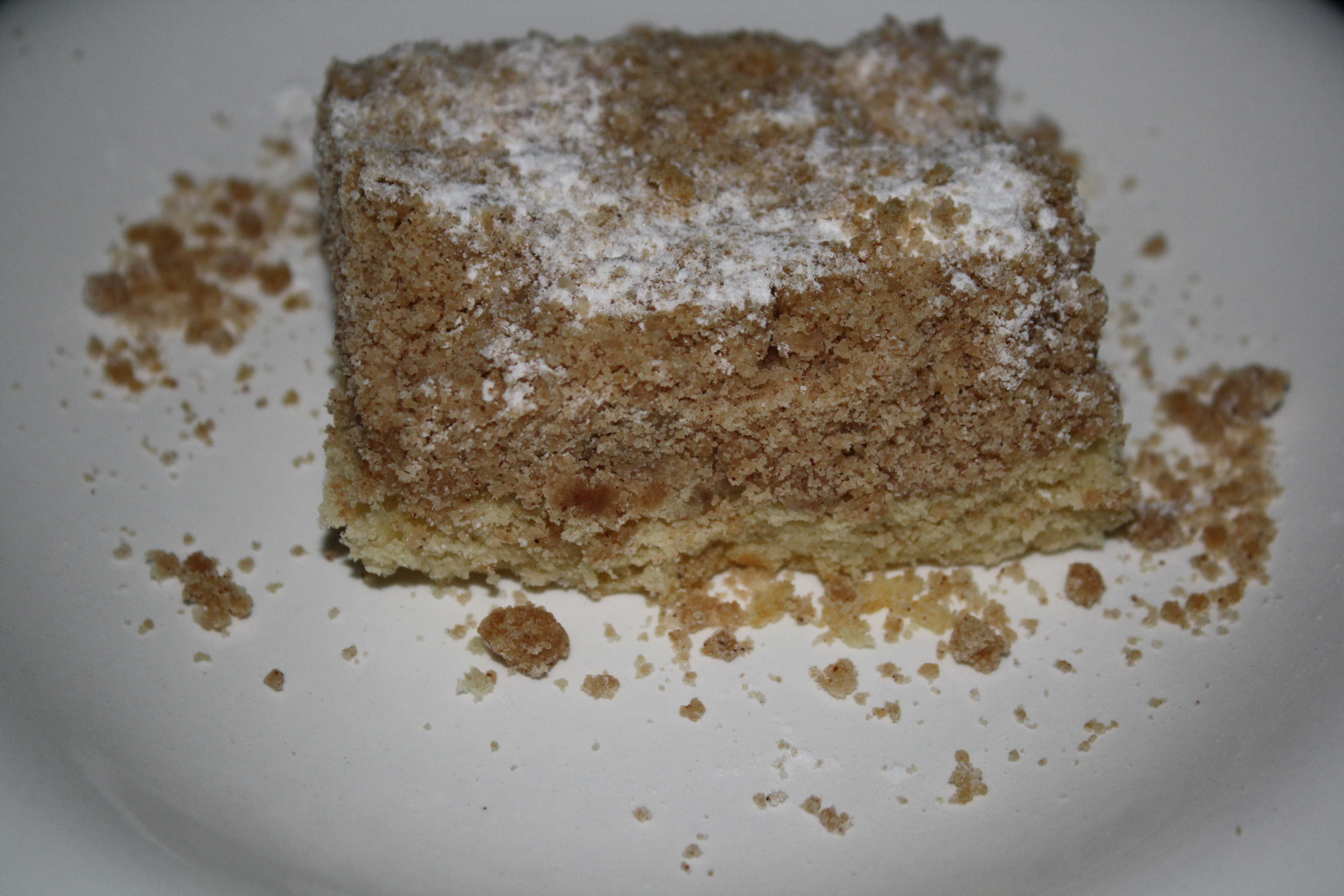 New York Style Crumb Cake | Practice What You Pinterest