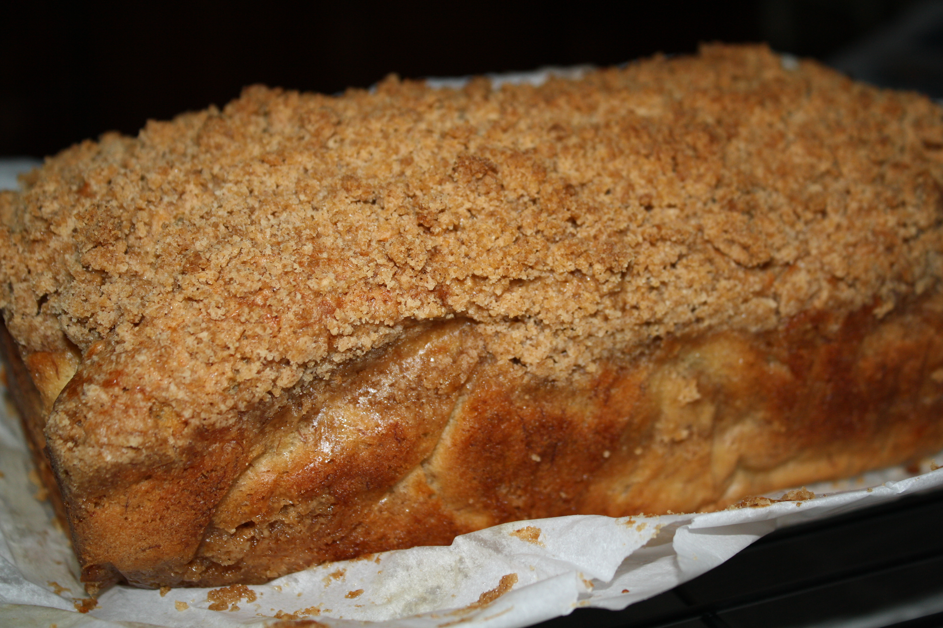 Homemade Cinnamon Streusel Coffee Cake
