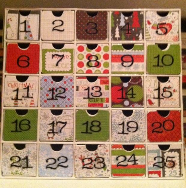 Diy Advent Calendar Drawers : Pinheads revisited the diy christmas countdown advent
