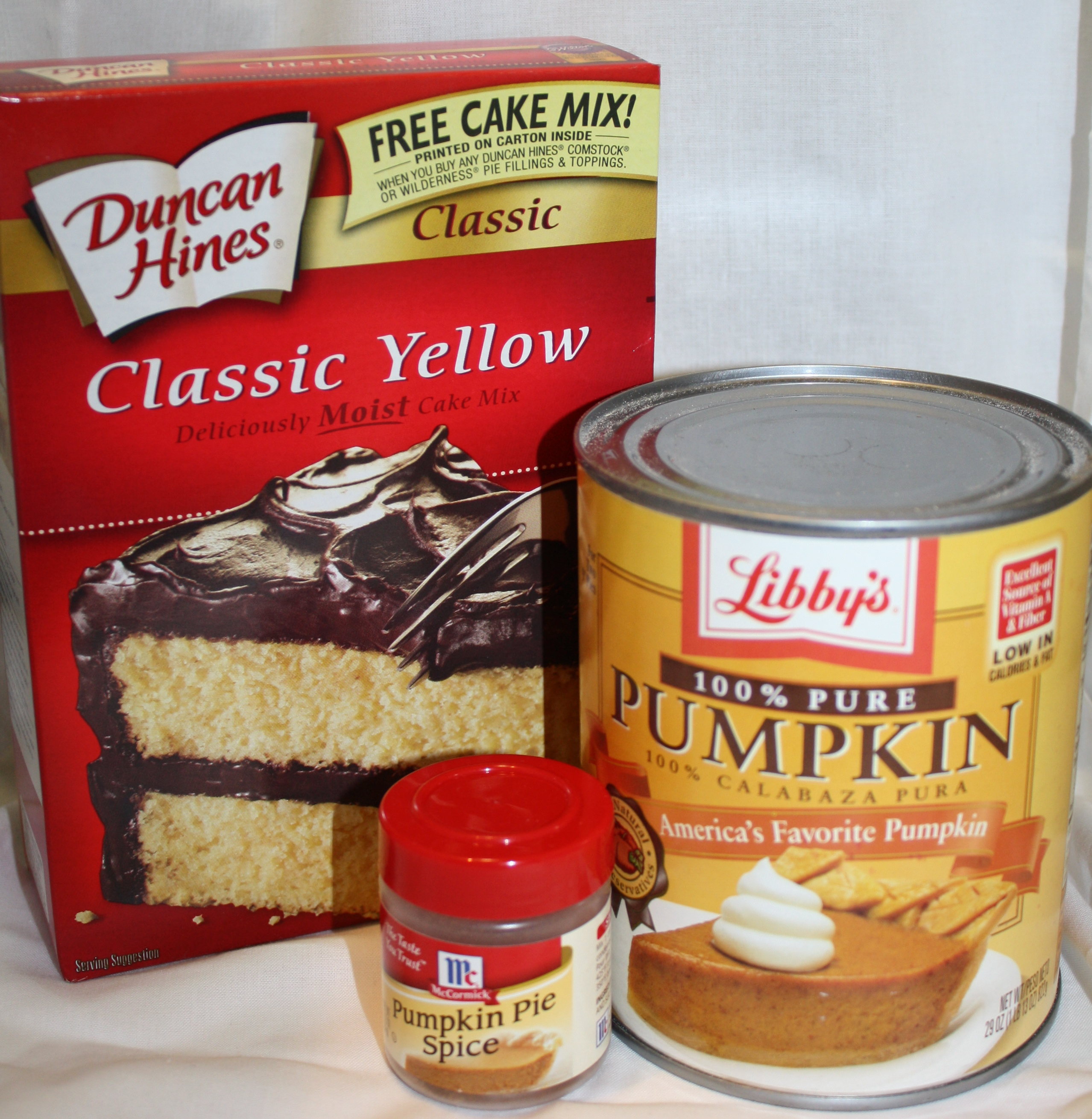 Cake Mix Pumpkin Pie Cake